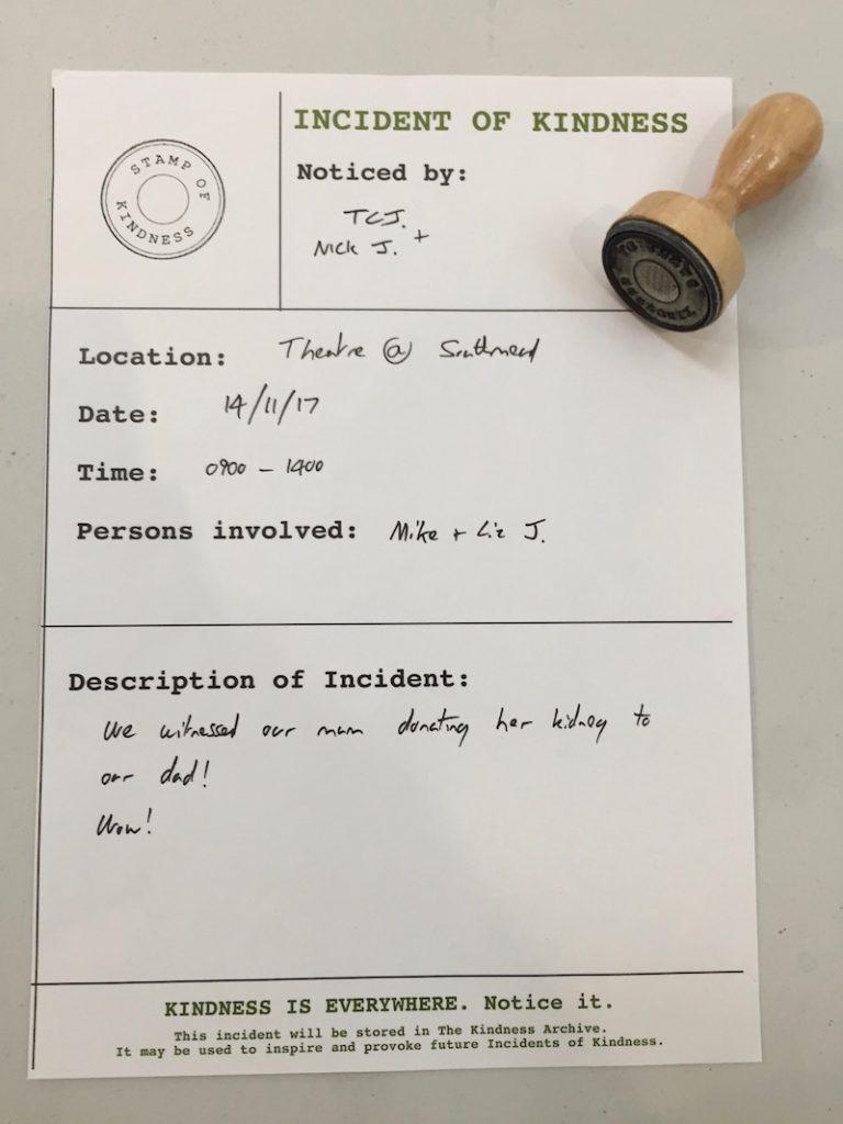 Kidney incident report form
