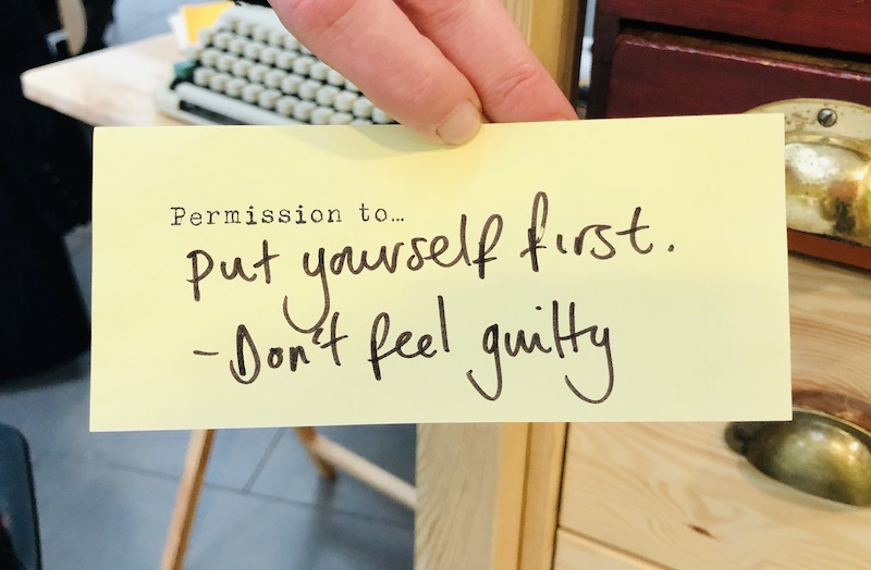 Permission slip - put yourself first
