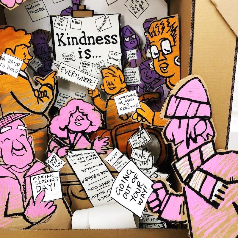 Kindness window display