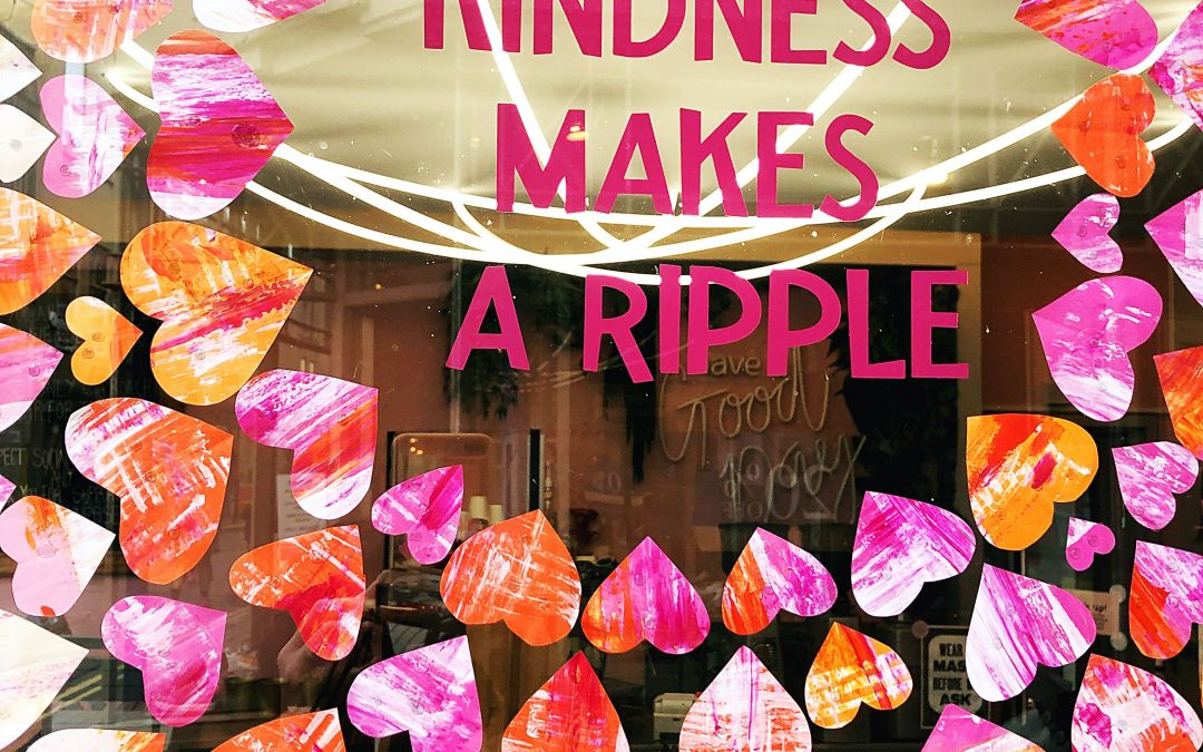 Kindness shop window trail in Bath this October